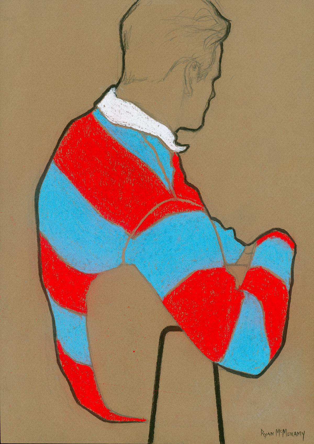 Ryan McMenamy x De Fursac, dessins au masculin